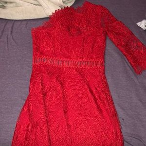 Beautiful red dress worn only once for a wedding